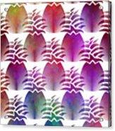 Pineapple Repeat Acrylic Print