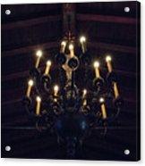 Pinewood Estate Chandelier Acrylic Print