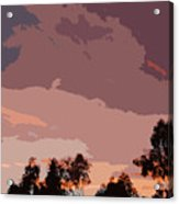 Pink And Mauve Sky Abstract Acrylic Print