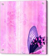 Pink And Purple Butterfly Companions 2 Acrylic Print