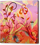 Pink And Purple Flower Medley Acrylic Print