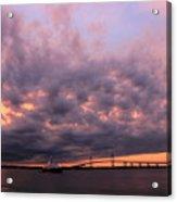 Pink And Purple Sunset Acrylic Print
