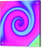Pink And Turquoise Swirl Abstract Acrylic Print