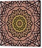 Pink And Yellow Kaleidoscope 1 Acrylic Print