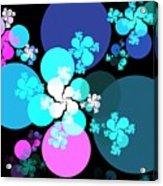 Pink Aqua Orbs Acrylic Print