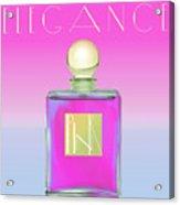 Pink Art Deco Perfume Acrylic Print