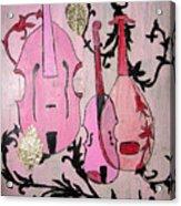 Pink Baroque Acrylic Print