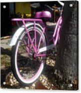 Pink Bicycle Acrylic Print