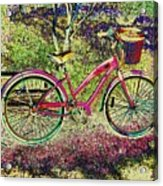 Pink Bicycle Acrylic Print