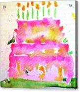 Pink Birthday Cake Acrylic Print
