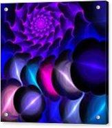 Pink Blue Bubbles Acrylic Print