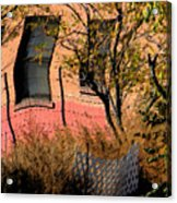 Pink Brick House Acrylic Print