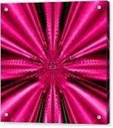 Pink Brocade Fabric Fractal 55 Acrylic Print