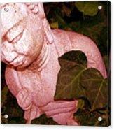 Pink Buddha Love Acrylic Print