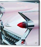 Pink Cadillac Eldorado Tail Fin Acrylic Print