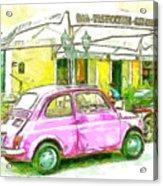Pink Car Acrylic Print