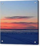 Pink Clouds Before Sunrise Two  Acrylic Print