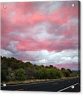 Pink Clouds Over Arizona Acrylic Print