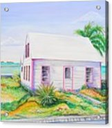 Pink Cottage Acrylic Print