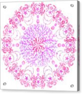 Pink Crab Mandala Acrylic Print