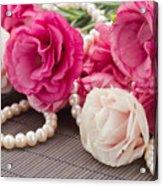 Pink Eustoma Flowers  Acrylic Print