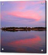 Pink Evening Acrylic Print