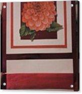 Pink Flower Greeting Card Acrylic Print