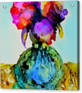 Pink Flowers In A Vase Acrylic Print