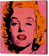 Pink Folded Marilyn Acrylic Print