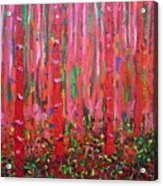 Pink Forest Acrylic Print