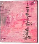Pink Gray Abstract Acrylic Print