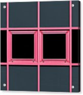 Pink Grid Acrylic Print