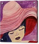 Pink Hat Acrylic Print