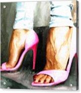 Pink Heels Acrylic Print