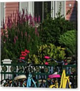 Pink House Bikes Cape May Nj Acrylic Print