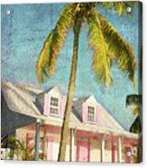 Pink House Palm Acrylic Print