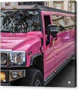 Pink Hummer At Trafalgar Acrylic Print