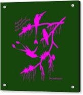 Pink Hummingbirds Acrylic Print