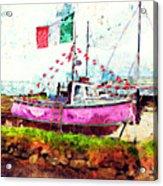 Pink Irish Boat Acrylic Print