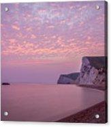 Pink Jurassic Coast Acrylic Print