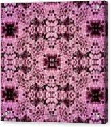 Pink Lace Acrylic Print
