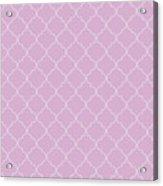Pink Lavender Quatrefoil Acrylic Print