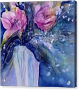 Pink Lilies In Vase Acrylic Print