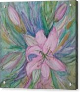 Pink Lily- Painting Acrylic Print