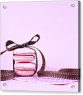 Pink Macarons Tied With Ribbon  Acrylic Print