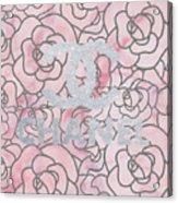 Pink Marble Chanel Acrylic Print
