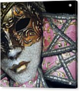 Pink Mask Acrylic Print