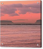 Pink Morning In The Bay Of Thunder Acrylic Print