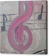 Pink Music Acrylic Print