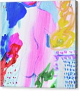 Pink Nude With Headwrap Acrylic Print